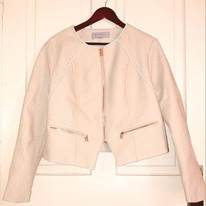 Marc New York Tan Faux Leather Motorcycle Jacket